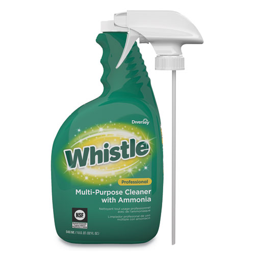 Whistle Professional Multi-Purpose Cleaner With Ammonia, 32 oz Bottle, Fresh