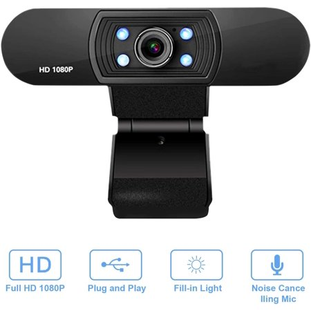Full HD 1080P Webcam USB Webcam with Microphone Widescreen Video Camera for Computer Laptop PC - image 1 of 7