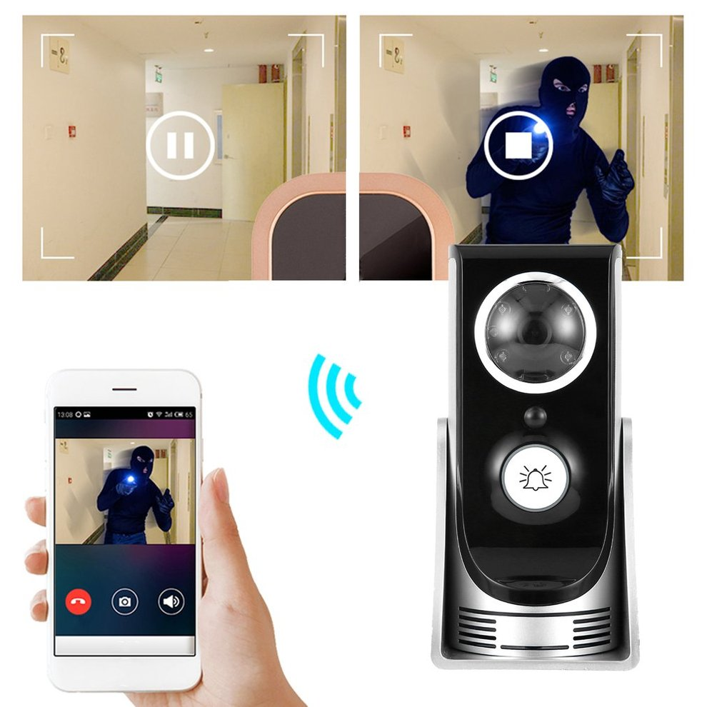 Wireless WiFi Doorbell Video Intercom Doorbell Mobile Phone APP Remote Control