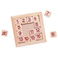 Tuscom Wooden Toys Board 1-16 Consecutive Numbers Wooden Educational Game for Kids