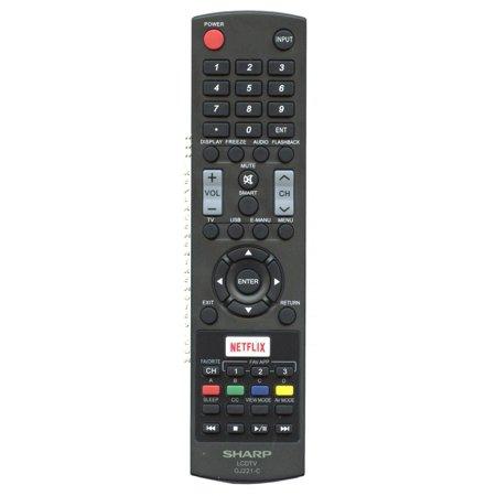 SHARP GJ221C (p/n: 9LE098003003220) TV Remote Control (new)