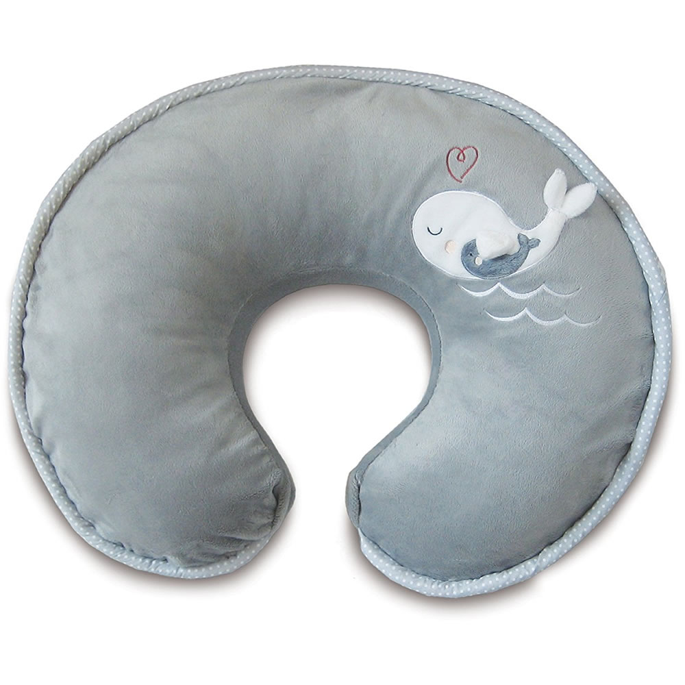 Boppy Luxe Nursing Pillow and Positioner, Gray Whales by Boppy