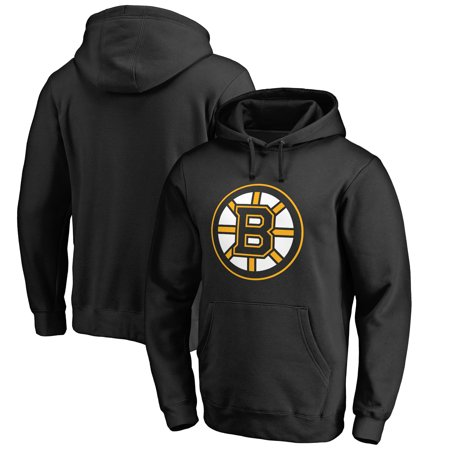 Boston Bruins Fanatics Branded Primary Logo Pullover Hoodie - Black