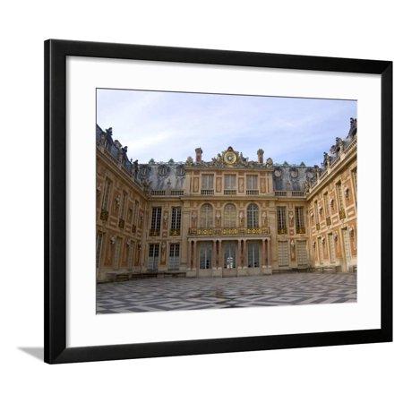Marble Courtyard, Versailles, France Framed Print Wall Art By Lisa S. Engelbrecht (Marge Lisa)