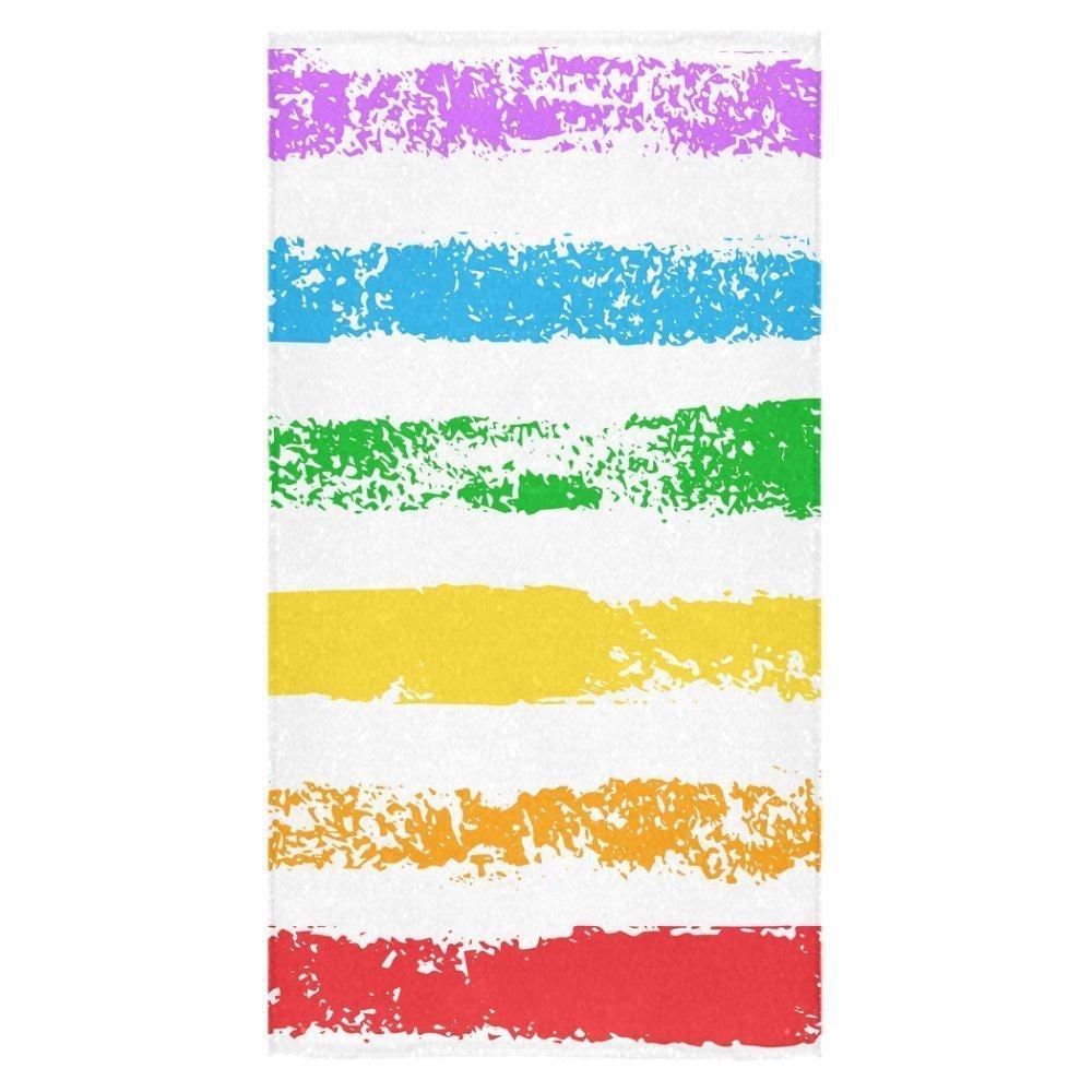 "ZKGK Colorful Striped Bath Towel Towel Beach Towel Bathroom Shower Towel Bath Wrap 30""X56"" For Home,Outdoor and Travel Use"