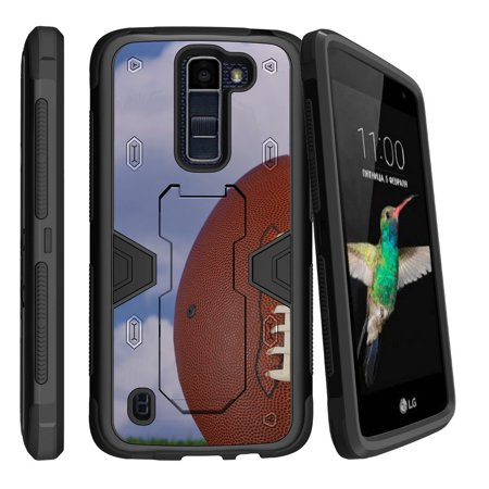 LG K7 | LG Tribute 5 Dual Layer Shock Resistant MAX DEFENSE Heavy Duty Case with Built In Kickstand - Field