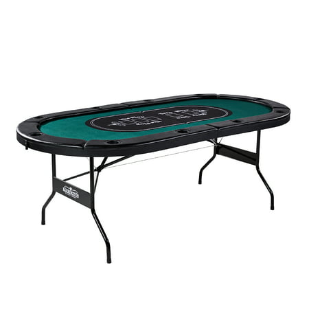 Barrington Texas Holdem 10 Player Poker Table - no assembly required,