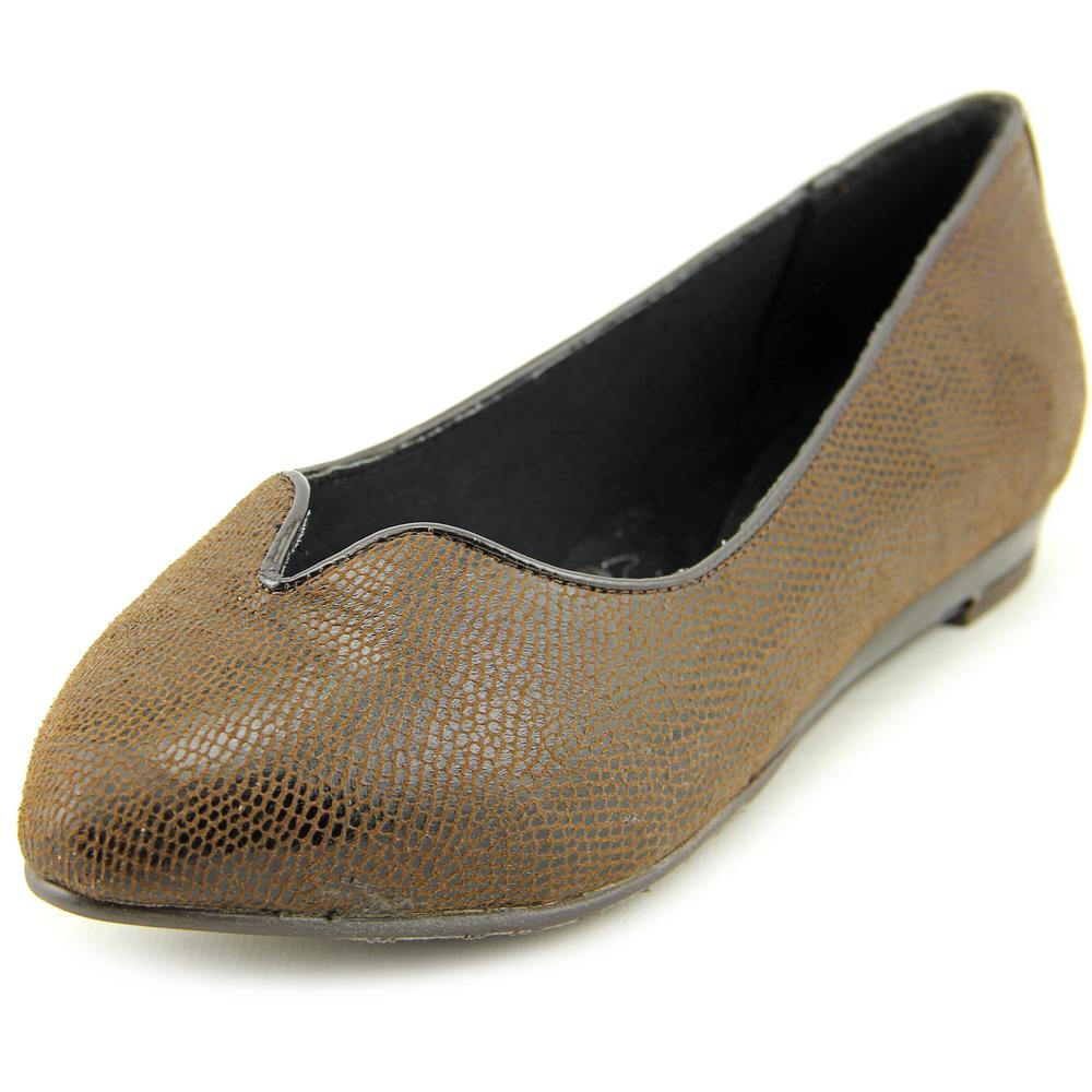 Soft Style by Hush Puppies Dillian Women  Pointed Toe Canvas Brown Flats