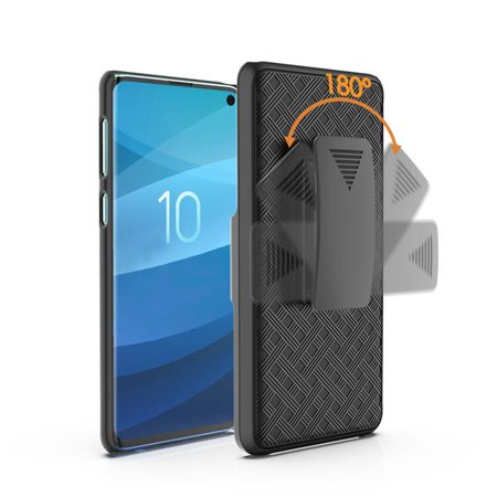 Samsung Galaxy S10+/Plus Case, Swivel Slim Belt Clip Holster Case, Defender Hard Cover for Samsung Galaxy S10+/S10 Plus - Black - image 3 of 4