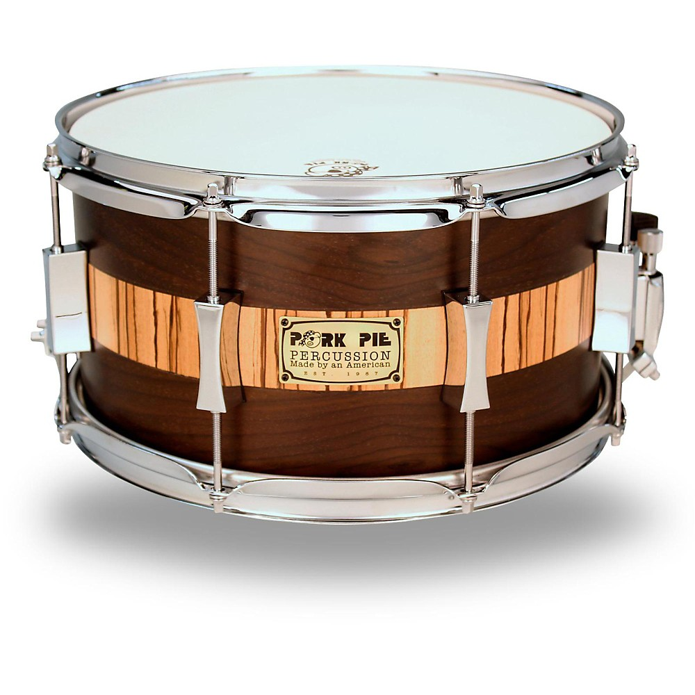 Pork Pie Exotic Rosewood Zebrawood Snare Drum 13 x 7 in. by Pork Pie