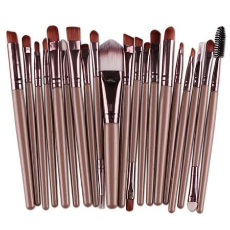 20pcs Makeup Brush Set tool Foundation Powder Toiletry Kit Fiber Cosmetic Brushes](Makeup Kit)