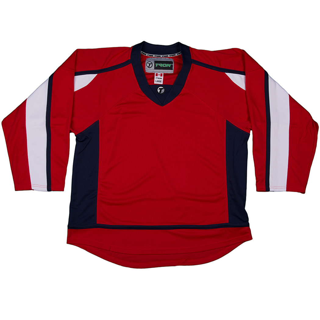 TronX DJ300 Washington Capitals Dry Fit Hockey Jersey (Red)