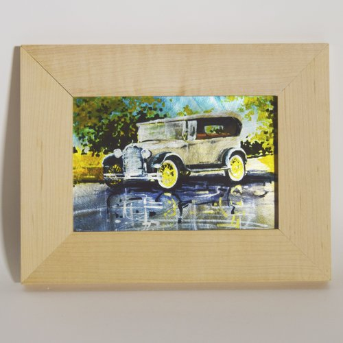 TrekDecor 1931 Model a 4 Door Convertible Sublimated Framed Painting Print