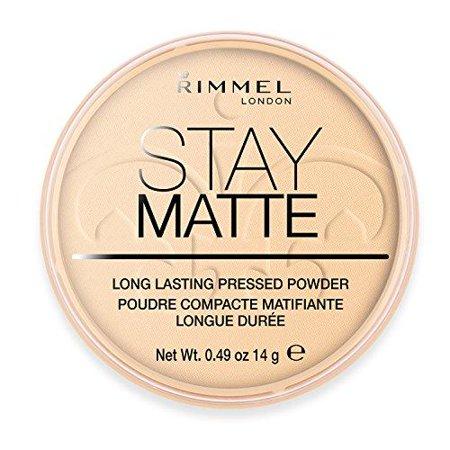 rimmel london stay matte long lasting pressed powder - 001