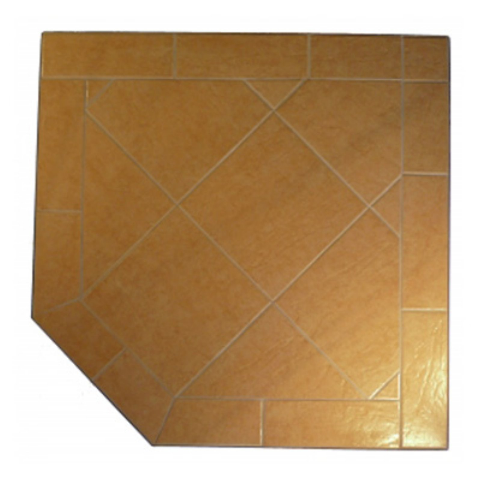HearthSafe Steel Frame Corner Hearth Pad