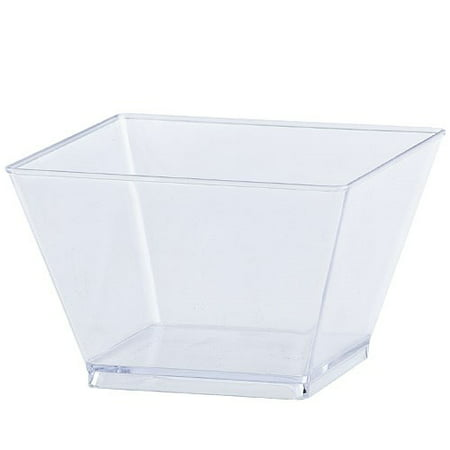 Lillian Caterware Condiment Plastic Bowls, 8 Oz, Clear, 20 - Clear Plastic Bowl