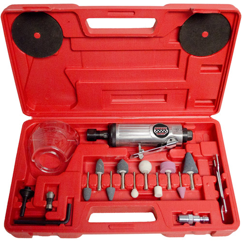 Speedway 2-in-1 Die Grinder/Cut-Off Tool Kit, Red