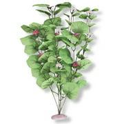 Vibran-Sea Broad Lily Leaf Silk-Style Aquarium Plant, Large 13-14 tall, Green Multi-Colored