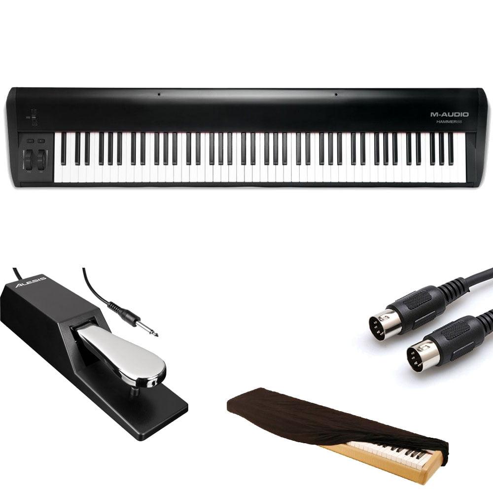 M-Audio Hammer 88-Key Hammer-Action keys USB MIDI Keyboard Controller + Bundle