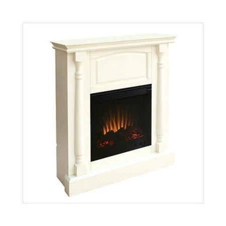 Southern Enterprises Newcastle Antique White Electric Fireplace