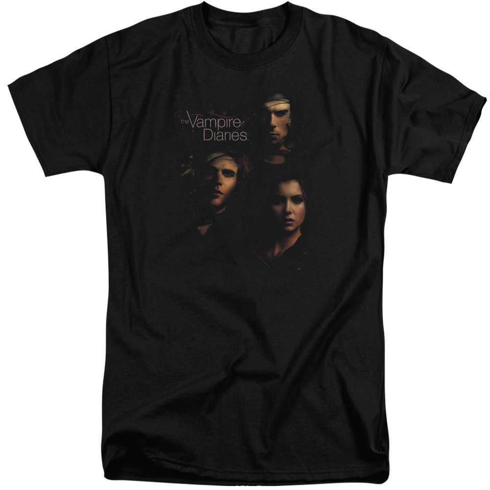 Vampire Diaries Smokey Veil Mens Big and Tall Shirt