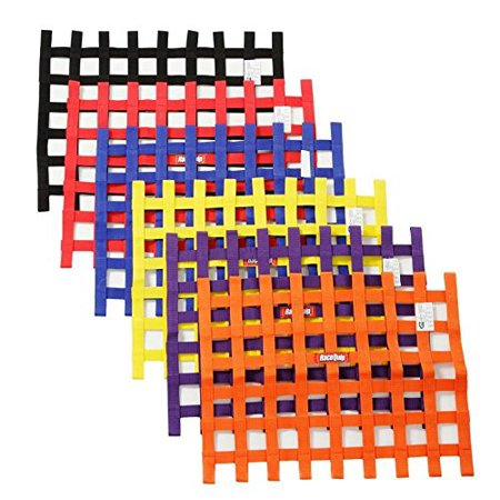 RIBBON STYLE RACE CAR WINDOW NET; ORANGE 18 H X 24 W