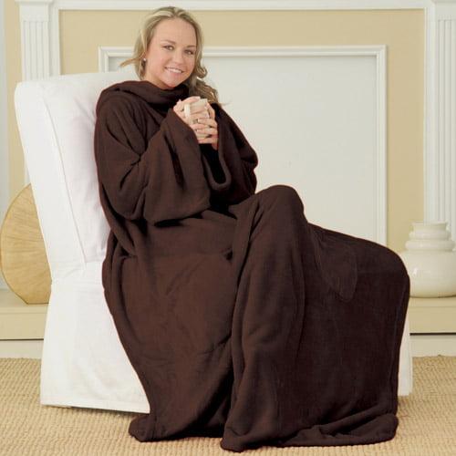 As Seen On TV Luxury Plush Snuggie, Brown
