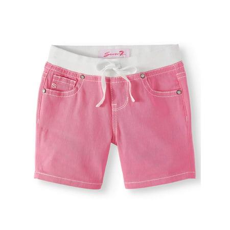 Seven7 Knit Waist Denim Short (Big Girls)