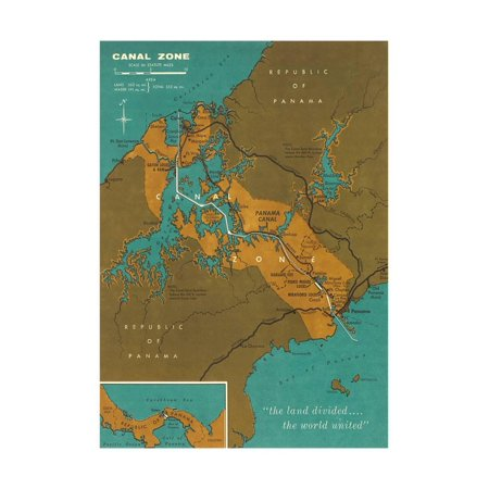 Green Zone Maps (Map of Panama Canal Zone Print Wall)