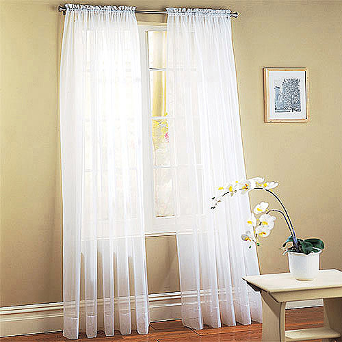 Mainstays Marjorie Sheer Voile Curtain Panels, Set of 2