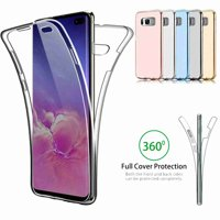Dteck Case For Samsung Galaxy S10 Plus 6.4 inch, Ultra Thin Clear Case 360 Coverage Full Body Protective Shell Shockproof Front and Back Crystal Soft Silicone Rubber Case Cover, Clear