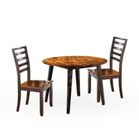 Abaco Two-Tone Cherry 42-Inch Round 3-Piece Dining Set