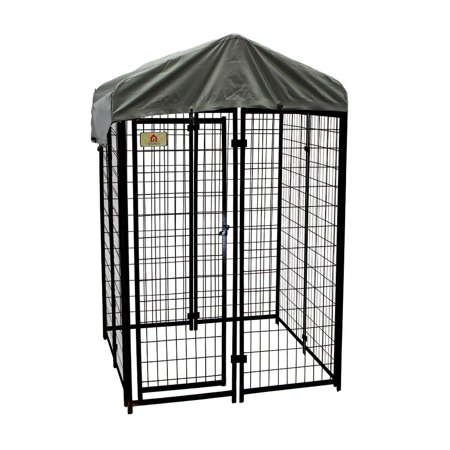 KennelMaster Welded Wire Dog Kennel, 6'H x 4'W x (American Kennel Club Recognizes 4 New Breeds)