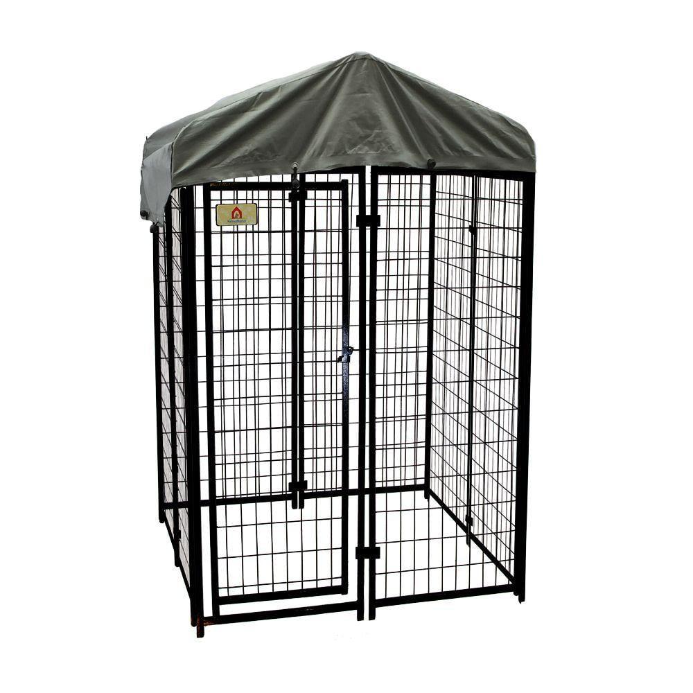 KennelMaster Welded Wire Dog Kennel, 6'H x 4'W x 4'L