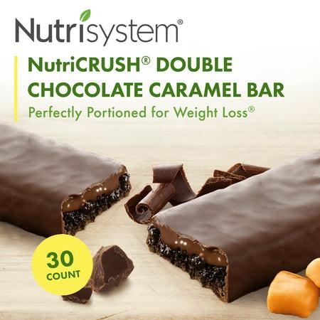 Nutrisystem NutriCrush Double Chocolate Caramel Lunch Bars, 1.8 Oz, 30 Ct