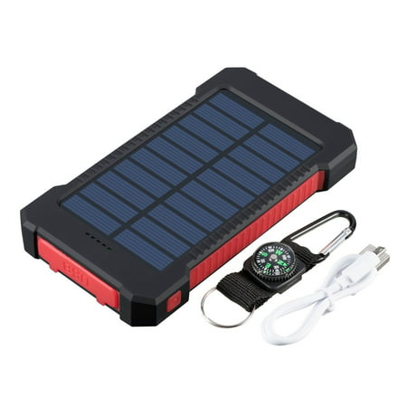 Waterproof 600000mAh Dual USB Portable Solar Charger Solar Power Bank For