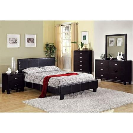 Furniture of America Sentrium 3 Piece Queen Bedroom Set in Espresso ()