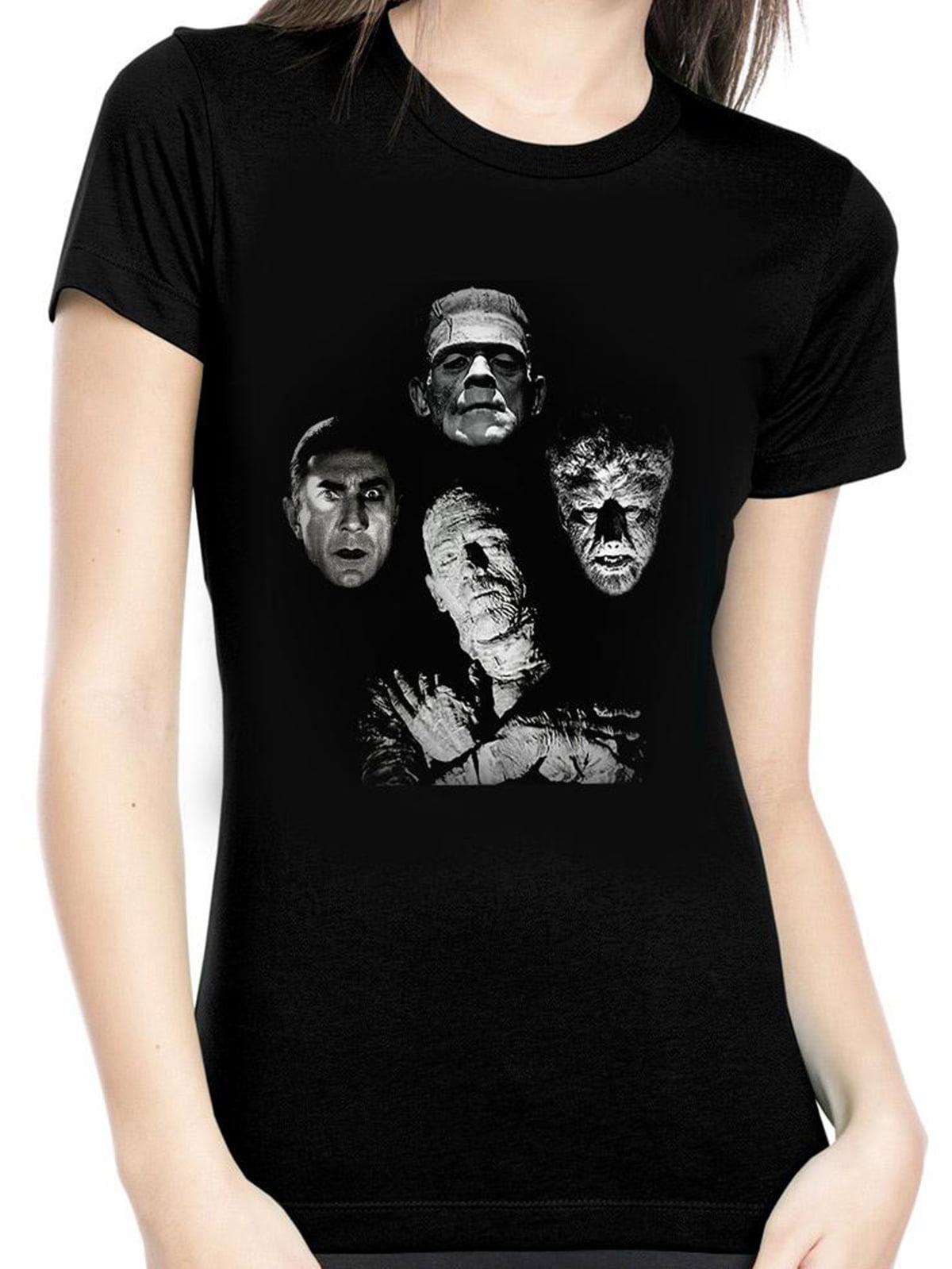 Rock Rebel Womens Warhol Bride of Frankenstein Black T Shirt