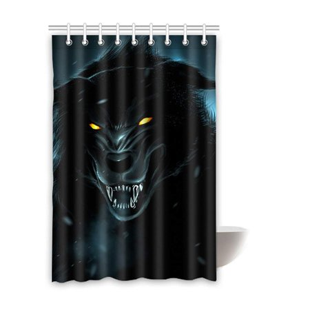 BOSDECO wolf Waterproof Polyester Bathroom Shower Curtain 48x72 Inches - image 2 de 2