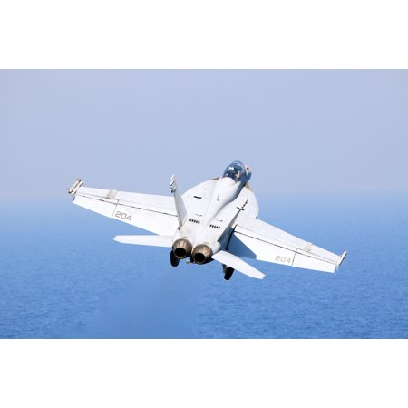 Canvas Print An U S  Navy F/A-18F Super Hornet aircraft assigned to Strike  Fighter Squadron 213 launches from the Stretched Canvas 10 x 14