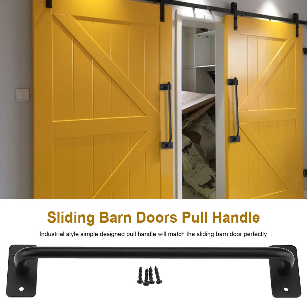 Aramox Industry Style Sliding Barn Doors Pull Handle Gates Garages Sheds  Metal Hardware Accessories, Barn