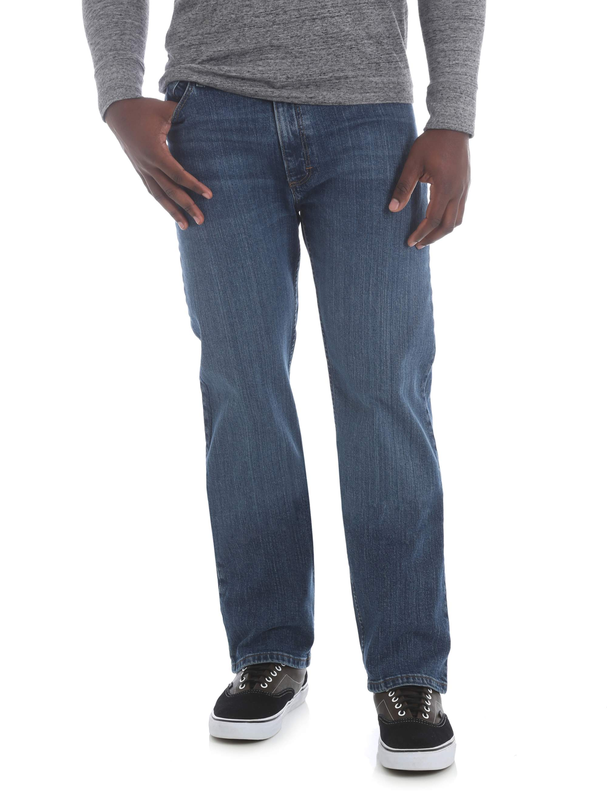 a5972882ca7ccf Wrangler - Wrangler Men's 5 Star Regular Fit Jean with Flex - Walmart.com