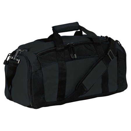 Port & Company Zippered Pocket Shoulder Strap Gym Bag