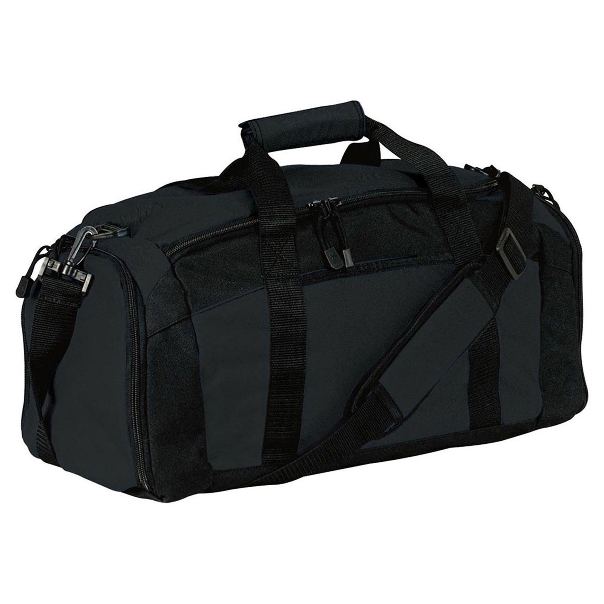 Port & Company Zippered Pocket Shoulder Strap Gym Bag