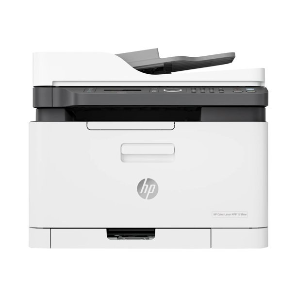 HP Color Laser MFP 179fnw - Multifunction printer - color - laser - A4 (8.25 in x 11.7 in) (original) - A4/Letter (media) - up to 18 ppm (copying) - up to 18 ppm (printing) - 150 sheets - 33.6 Kbps - USB 2.0, LAN, Wi-Fi(n)