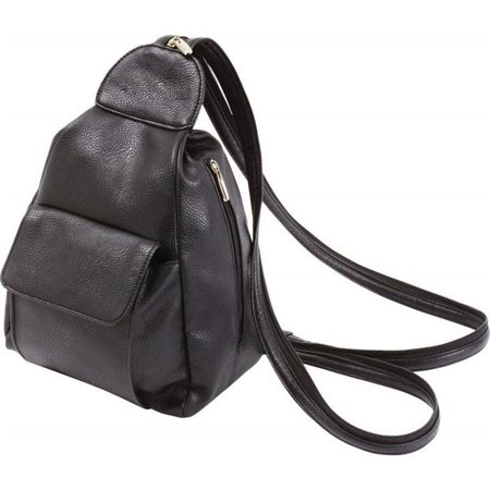 Ladies Black Backpack Purse With Multiple Compartments - image 1 de 1