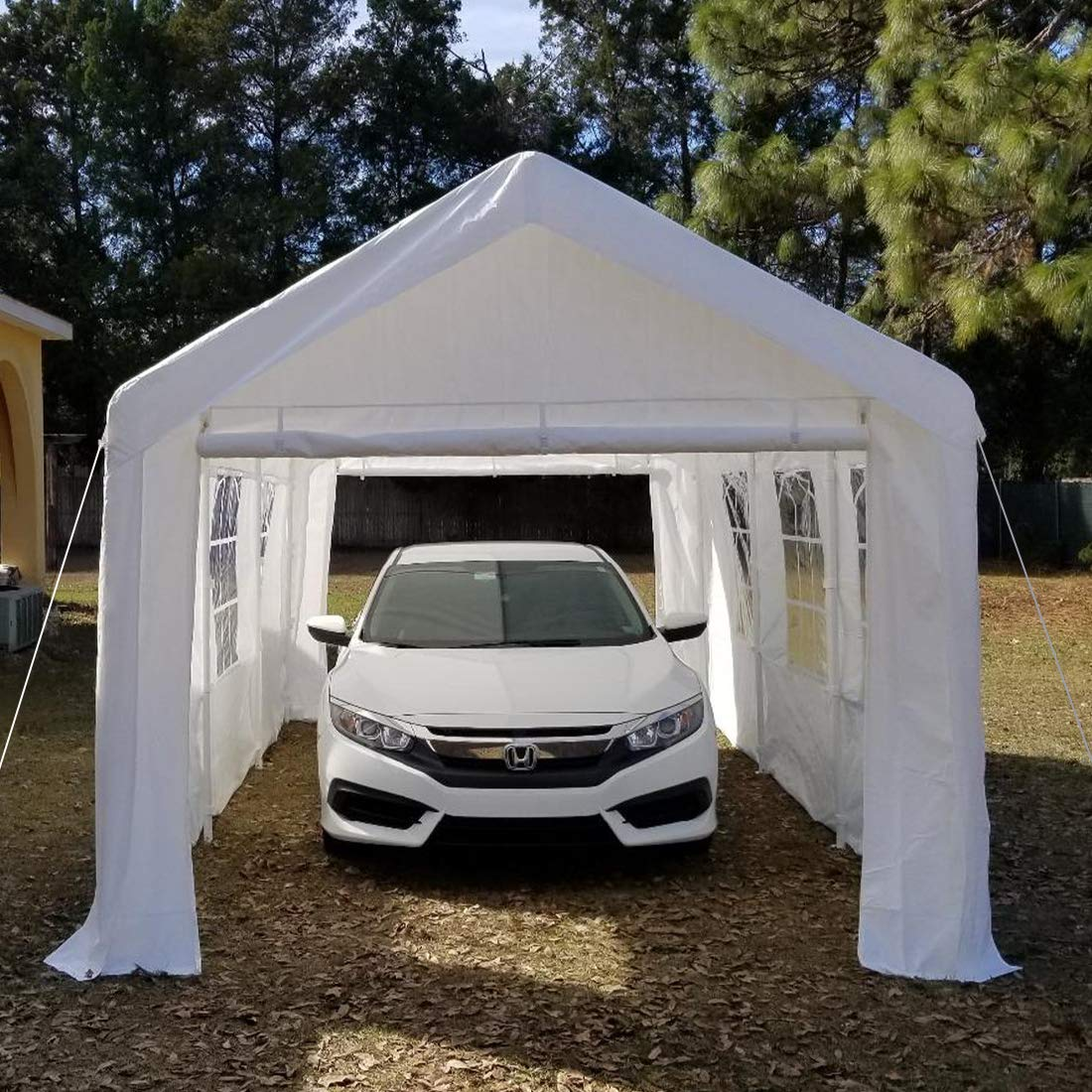 Quictent Large Canopy Carport 10'x20' Window Style Sides ...