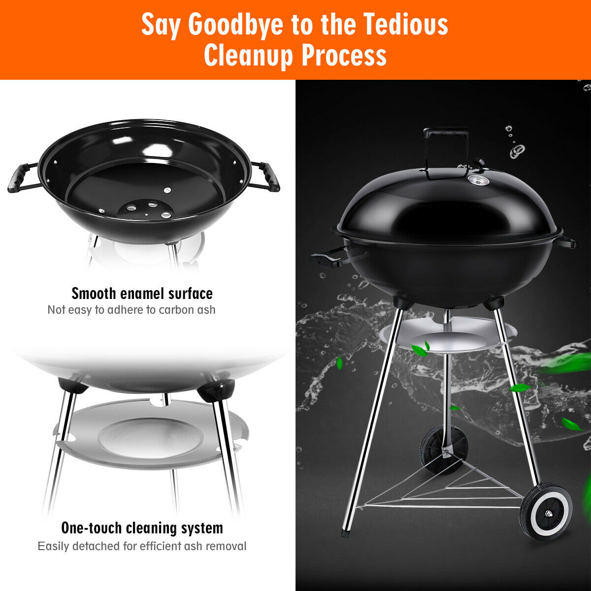 Gymax Gymax 22.5-Inch Kettle Charcoal Grill BBQ Outdoor ...
