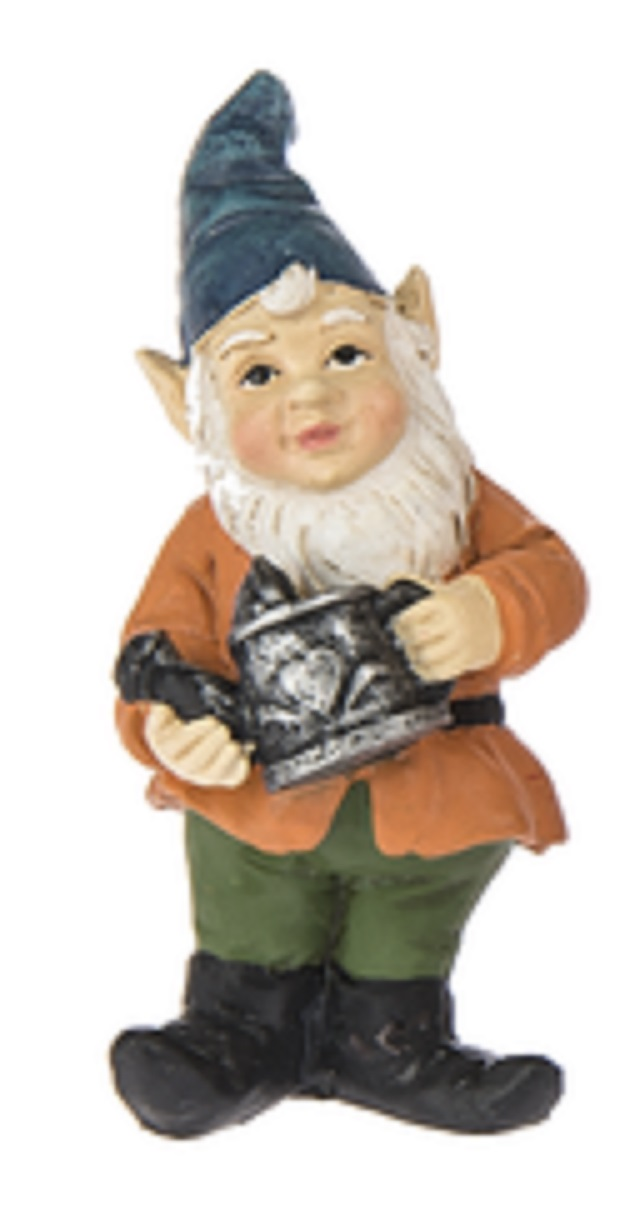 Fairy Garden Gnome Figure: Orange Coat and Blue Hat By Ganz by