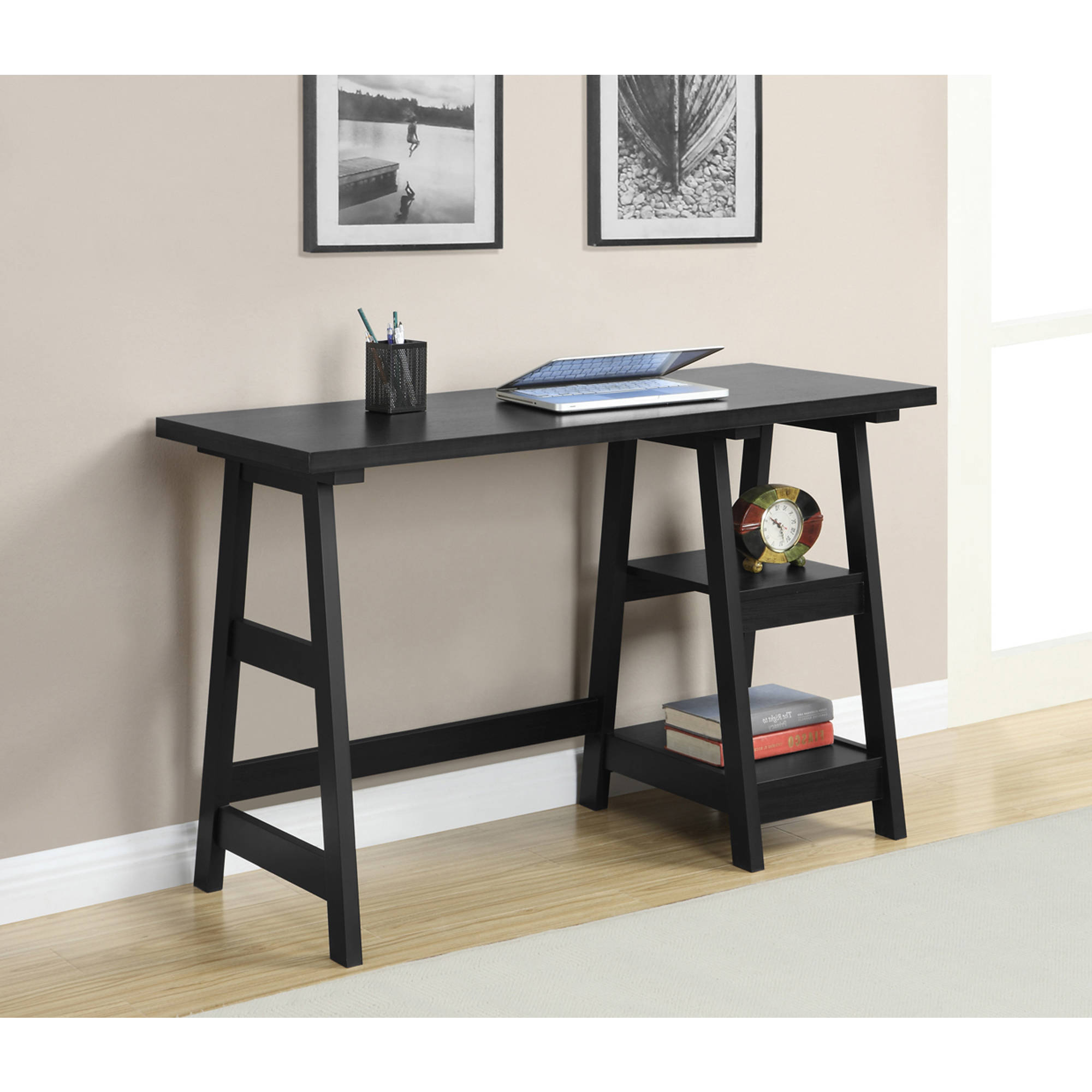 Convenience Concepts Designs2Go Trestle Desk, Multiple Colors